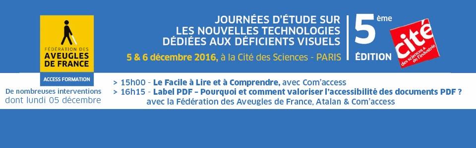 Compte-rendu des journées NTIC de la Fédération des Aveugles de France