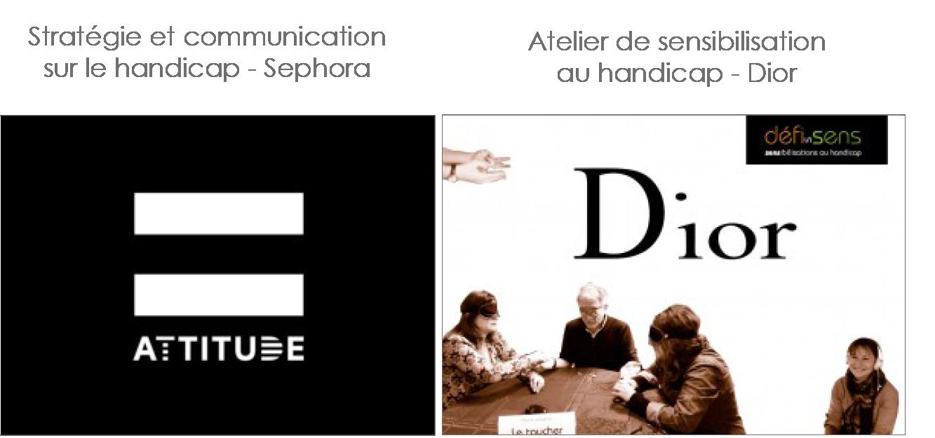 Exemples pour Sephora et pour Dior, voir le site de Defissens
