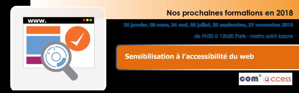 Dates de formation sensibilisation à l'accessibilité du web _ voir le calendrier