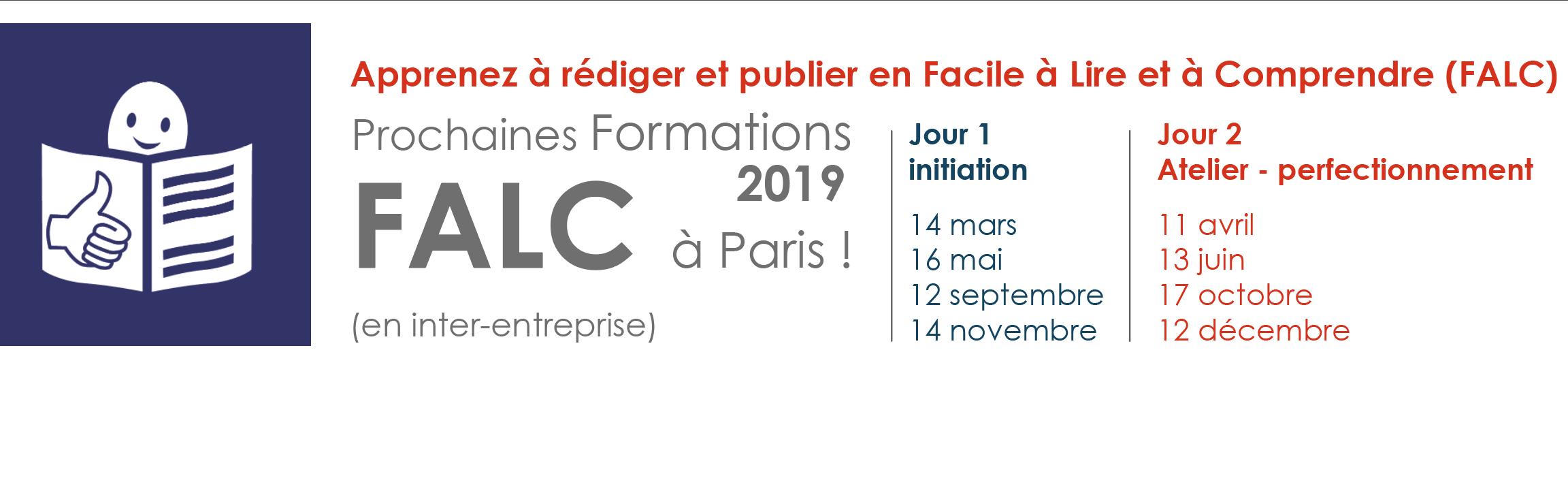 Nos prochaines formations FALC à Paris