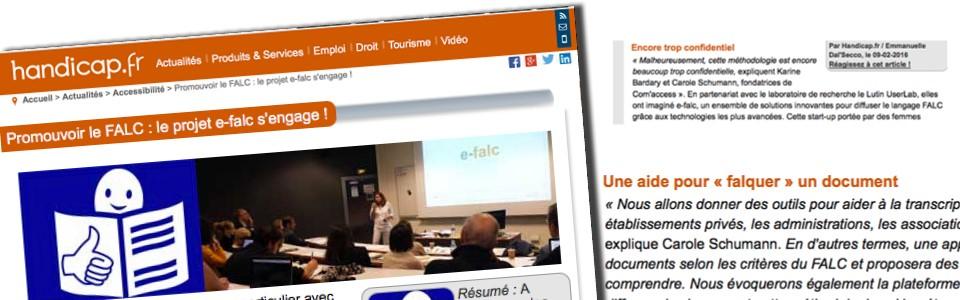 Promouvoir le FALC : le projet e-falc s'engage !
