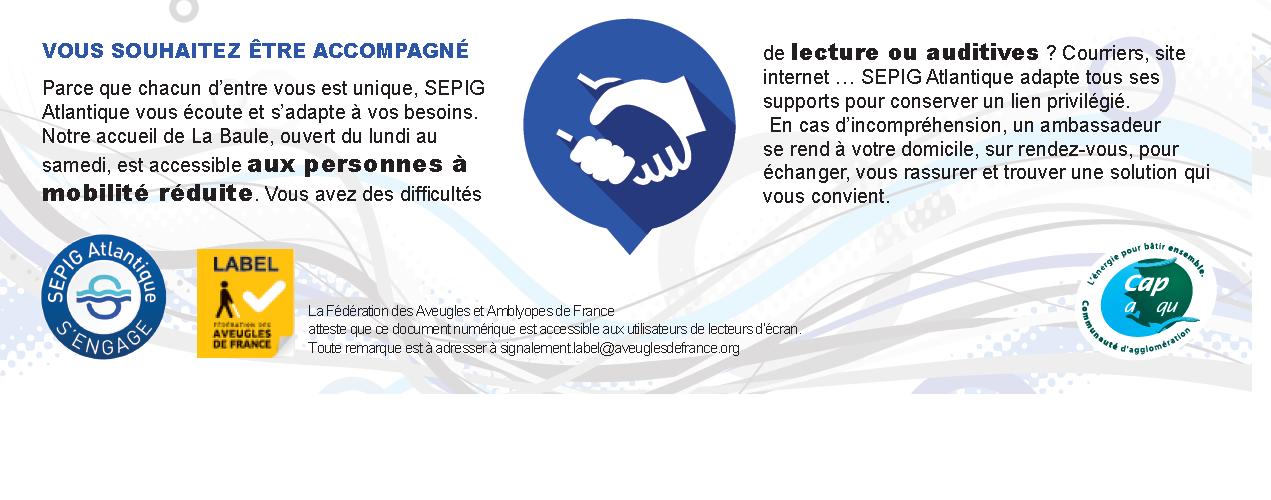 """La SAUR obtient le """"Label Fédération des Aveugles de France"""""""